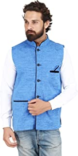 Akaas_Men's_Cotton Blend Nehru and Modi Jacket Ethnic Style For Party Wear