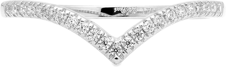 0. 23 ct Brilliant Round Cut Gorgeous V Pave Bridal Stateme chevron online shop shape