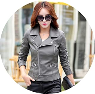 Spring Womens Jackets Leather Clothing Slim Motorcycle Leather Jacket Women Outerwear Coats
