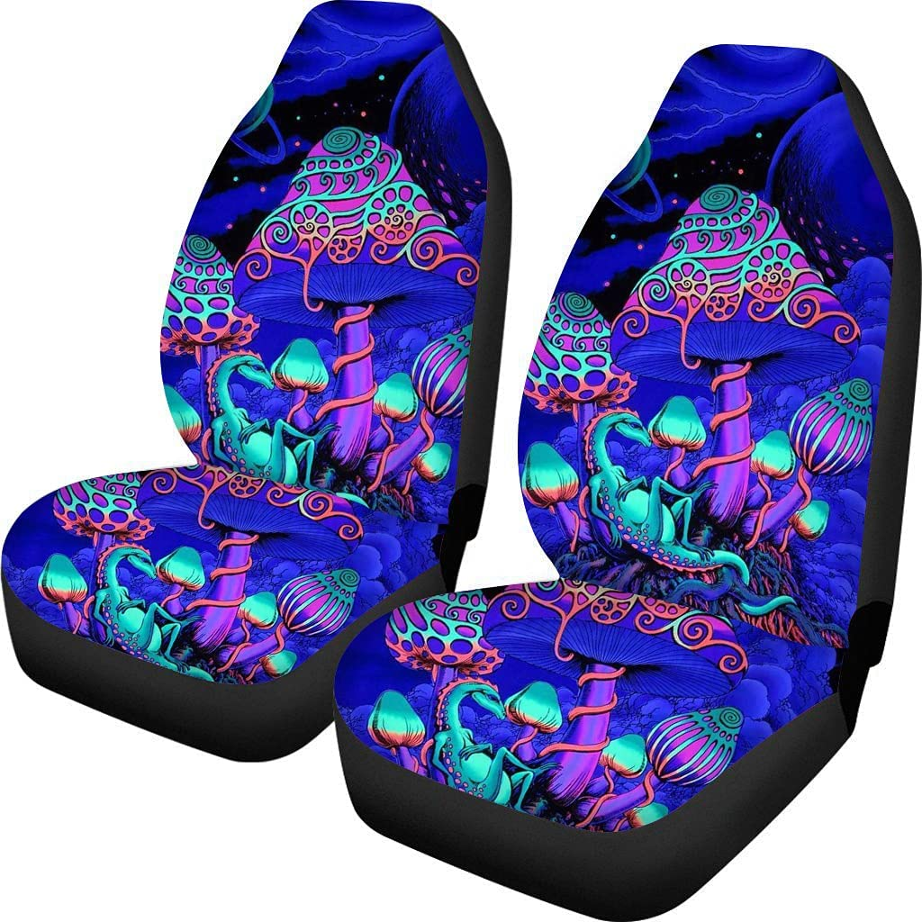 POLERO Psychedelic Mushroom Car Seat Universal Cheap Auto Inte Department store Covers