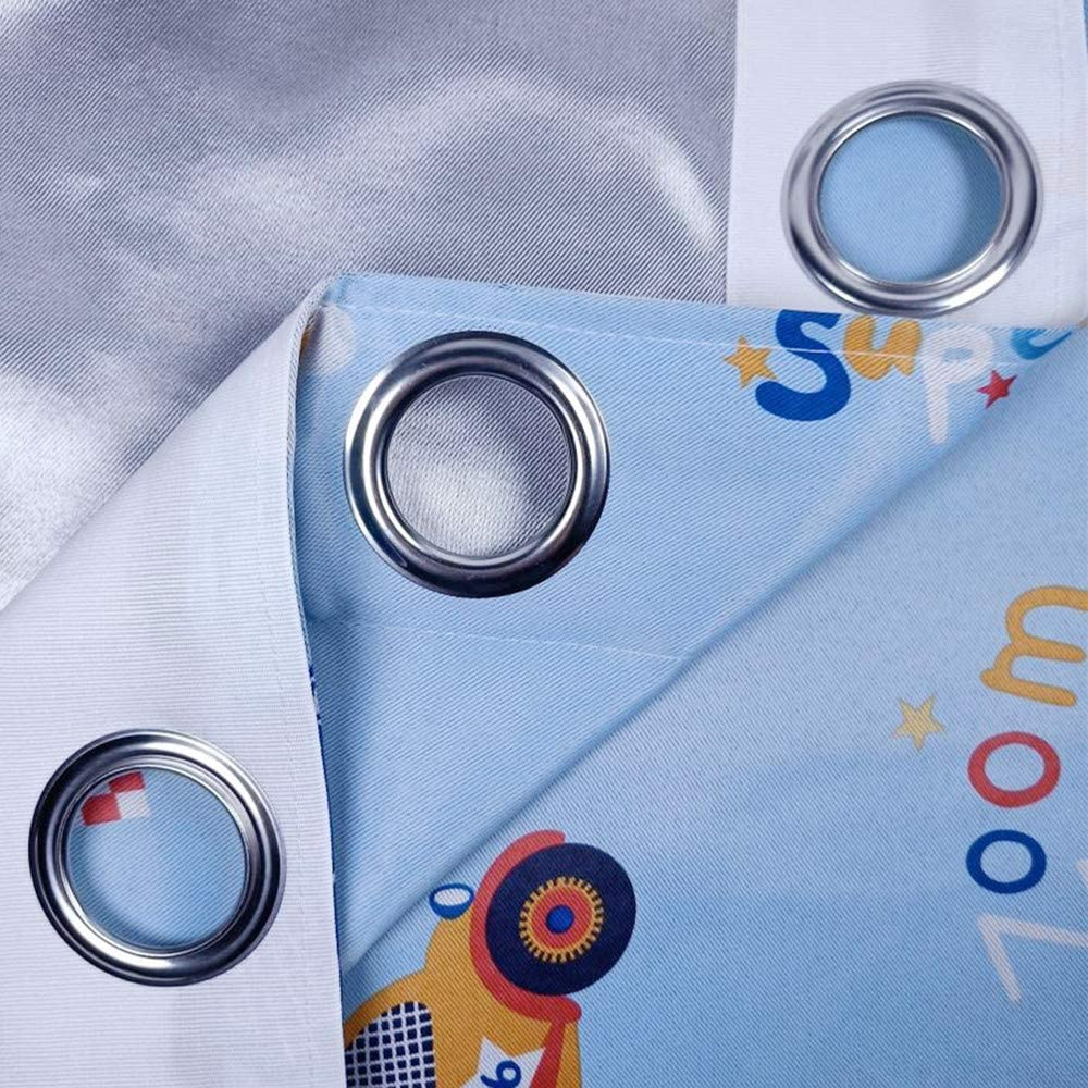 adaada Vorh/änge Auto Kinderzimmer,Vorh/änge Kinderzimmer Junge,Vorh/änge f/ür Kleine Fenster,2er Set 175X140cm, Blau