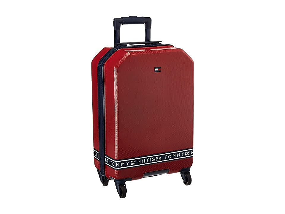 Tommy Hilfiger 21 Sneaker Sport Upright Suitcase (Red) Luggage