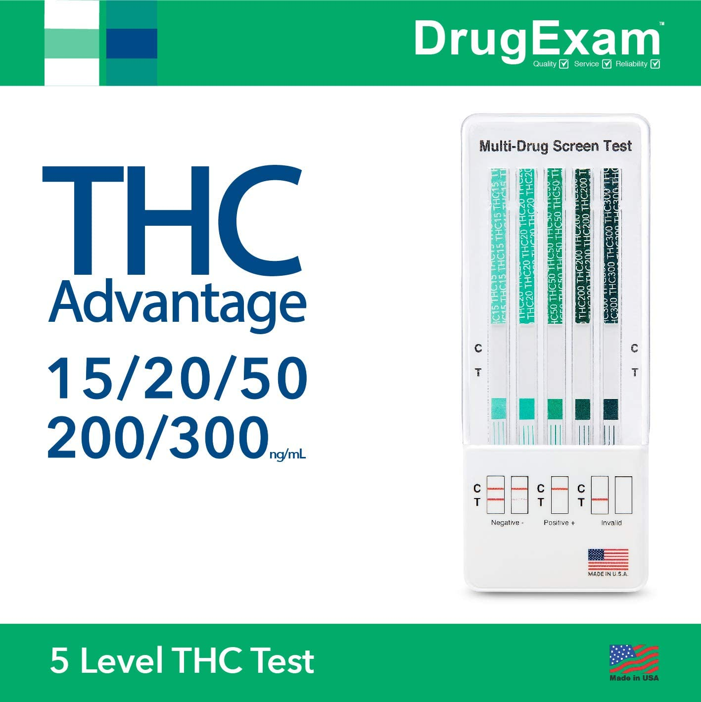 10 Pack Super sale period limited - DrugExam THC Advantage USA Marijua Made Under blast sales Multi in Level