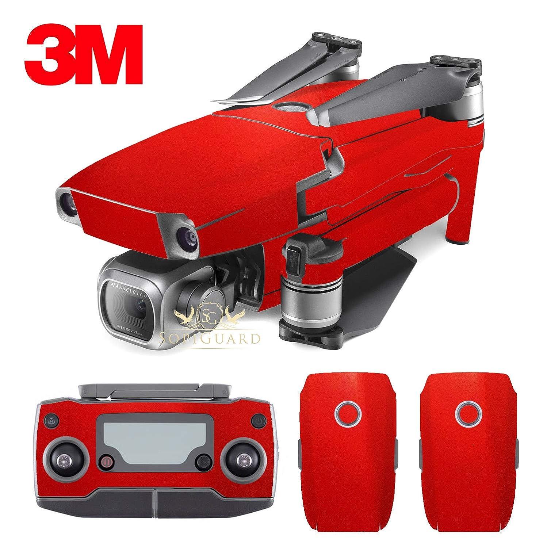 SopiGuard 3M Gloss Dragon Fire Red Vinyl Sticker Skin for DJI Mavic 2 Pro/Zoom