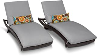 TK Classics BELLE-CURVED-CHAISE-2x-GREY Belle Chaise Lounge, Grey