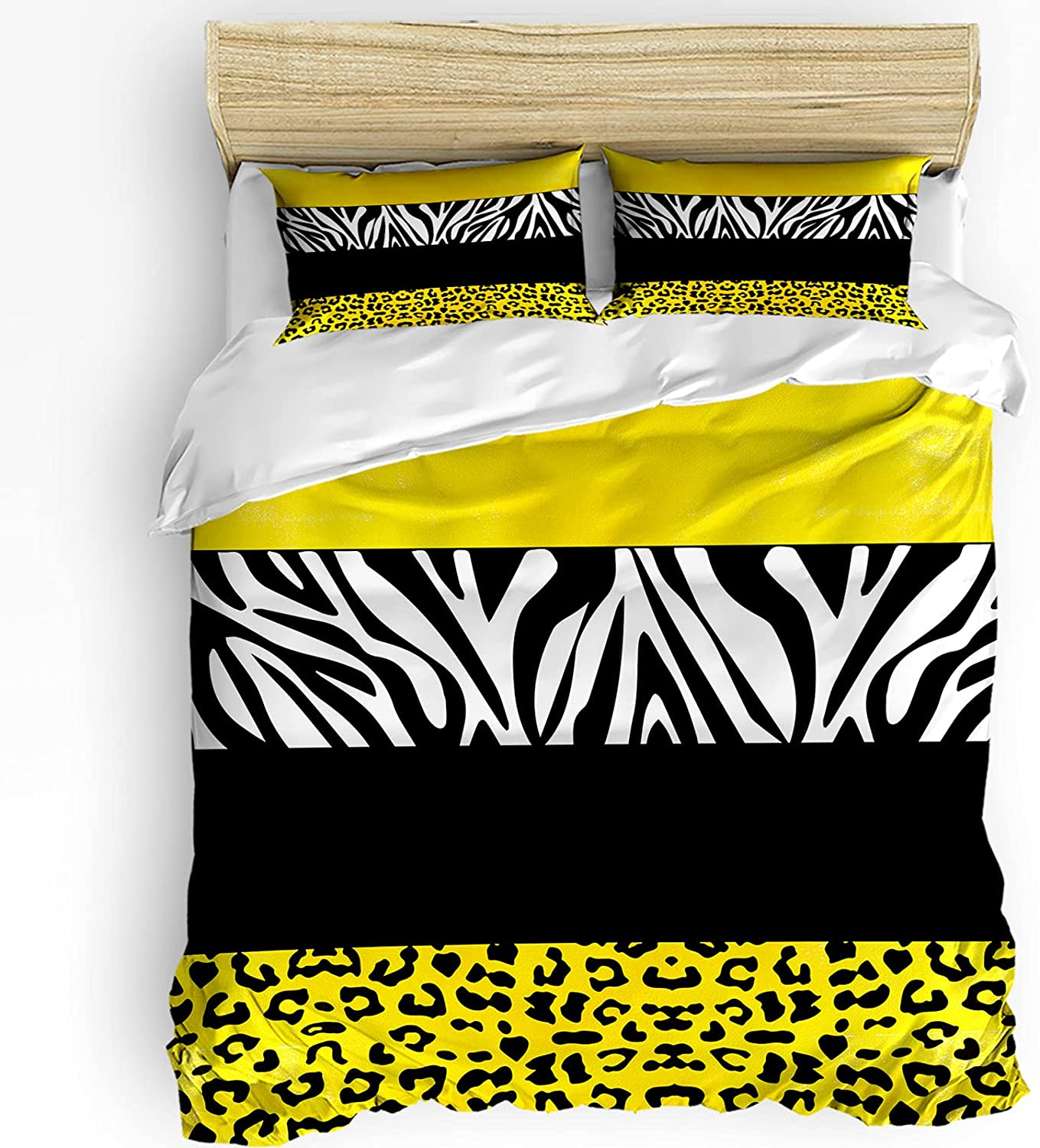 Funy Decor Bedding Duvet Surprise price Cover Set 3 Black Yellow Sale Special Price Pieces and Bed