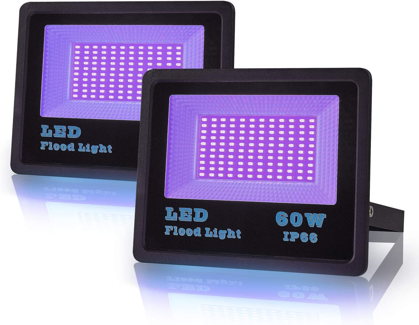 LANFU 2 Pack 60w LED Max 78% OFF Black Neon Light Blacklight for 2021 autumn and winter new Fluorescent