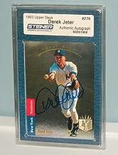 Derek Jeter Signed 1993 Ud Sp #279 Rookie Card Foil Steiner Coa Jeter - Upper Deck Certified - Baseball Slabbed Autographed Rookie Cards