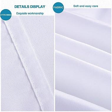 "FLXXIE 2 Pack Microfiber Pillow Shams, Ultra Soft and Premium Quality, 20"" x 26"" (White, Standard)"