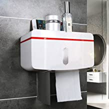 ABS toiletrolhouder, zelfklevend, toiletrolhouder, voor badkamer, toilet, keuken, sterke kleefkracht, boren niet nodig, wa...