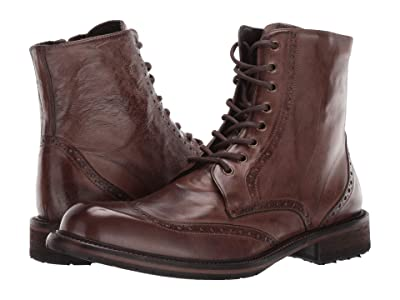 J&M EST. 1850 Lofting Wing Tip Boot (Dark Tan) Men