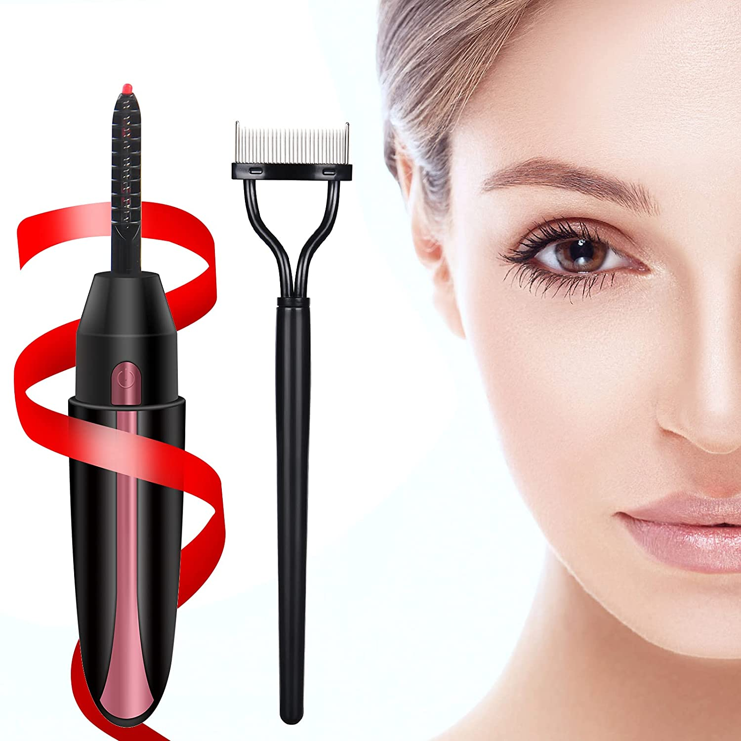 Heated Eyelash Curlers USB Louisville-Jefferson County Mall Curler Our shop OFFers the best service Lash Ele Rechargeable