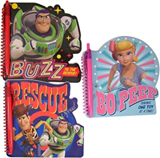 Disney Pixar Toy Story 4 Assorted Character Spiral Bound Notebooks with Pen, 6 Inch, Pack of 3