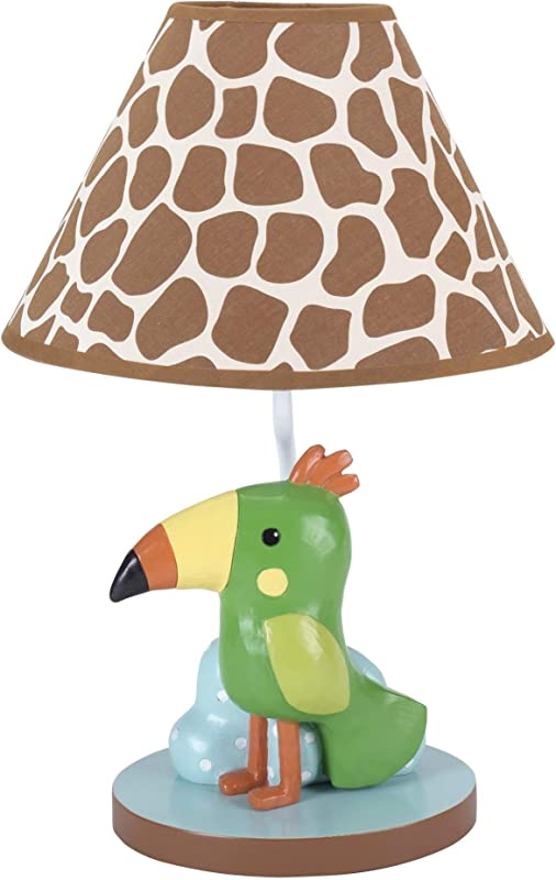 Lambs Ivy Peek A Boo Jungle Lamp With Shade And Bulb