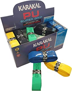 KARAKAL - PU Super Grip - self-Adhesive Grip Tape for Badminton Squash Tennis Hockey Sticks or Curling - 24 pcs - Multi Co...