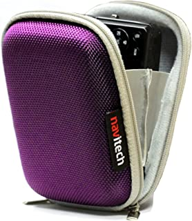 Navitech Purple Hard Water Resistant Case/Cover Compatible with The mp3 Digital Audio Player Compatible with The Philips SA4VBE08KN/12 GoGear Vibe 8GB
