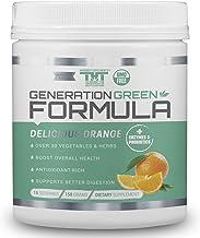 Generation Greens Powder | Organic Superfood Powder with Spirulina, Chlorella, Wheat Grass | 60 Powerful Super Foods, Prob...