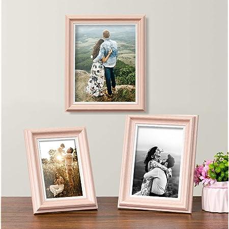 Art Street - Rose Pink Table Photo Frame (Rose Pink Set 3) (4x6, 5x7, 6x8)
