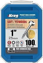 Kreg sps-c1-100 pocket schroeven – 1, 7 grof, zwart, 100 stuks