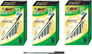 BIC Ecolutions Round Stic Ballpoint Pen, Medium Point (1.0mm), Black, Sold as 3 Pack, 150 Count Total