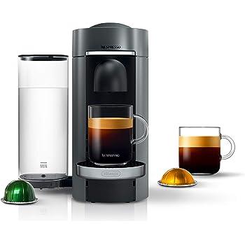 Nespresso VertuoPlus Deluxe Coffee and Espresso Machine by De'Longhi, 15 x 14 x 9 inches, Titan