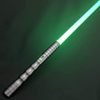 Adawlert Light Sabers for Adults Apolar Discoloration Force FX Dueling Lightsaber Metal Hilt Rechargeable Light Up Light Sabers with Sound (Gun)