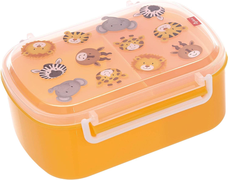 sigikid 25133 - Fiambrera para niños y niñas con estampado de colores, para guardería, escuela y excursiones, sin BPA