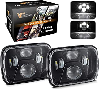 Partsam 5x7 Inch LED Headlights 7x6 Led Sealed Beam Headlamp w/High Low Beam H6054 6054 LED 110W H4 Plug H5054 6054 6052 Compatible with Jeep Wrangler YJ Cherokee XJ Toyota Pickup True DOT (Pair)