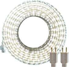 LED Rope Lights, 50ft Flat Flexible Light Strip, 6000K Daylight White, Water Resistant for Both Indoor/Outdoor Use, Inter-Connectable, UL Certified, Decorative Lighting for Any Location DW