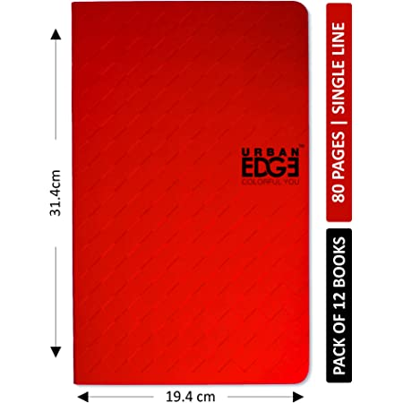 Urban Edge Long Notebook 80 Pages - Single Line (Pack of 12)