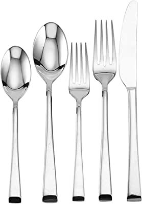 Mikasa Rockford 20-Piece 18/10 Stainless Steel Flatware Set, Service for 4, Silver