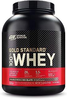 Optimum Nutrition Gold Standard 100% Whey Protein Powder, Double Rich Chocolate, 5 Pound..