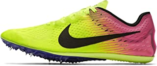 Zoom Victory Distance Track Spikes Shoes Mens Size 6 (Volt, Pink, Black)