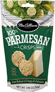 Mrs. Cubbison's Cheese Crisps | Parmesan Flavor | 1.98 Ounce | 100% Real Cheese | Keto Friendly | Great for Snacking and S...