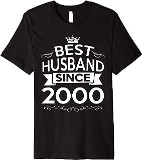 Mens 19th Wedding Anniversary Gifts For Husband Ideas For Men Him Premium T-Shirt