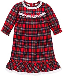 Image of Darling Red Plaid Christmas Nightgown for Toddler Girls and Infants