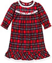 Little Me Gown Girls' Christmas Pajamas - Red Plaid Nightgown