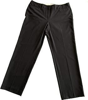LIZ CLAIBORNE Women's Straight Leg Dress Flat Front Pants 16 Navy Blue