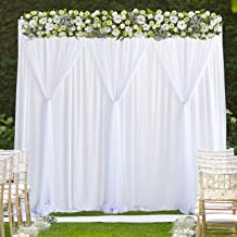 White Tulle Backdrop Curtain for Parties Weddings Baby Shower Birthday Photography Photo Drape Backdrop Stage Curtain 10 ft X 7 ft