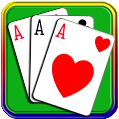 Solitaire Game Classic For Kindle Fire Tablet Easy Play Free Spider Solitaire Card Game HD Playing Popular Free Cards Games for adults pyramid Magic Freecell Domination Solve Puzzles Original Klondike