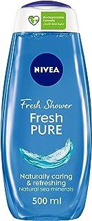 NIVEA Fresh Pure Shower Gel, Sea Minerals, Aquatic Scent, 500ml