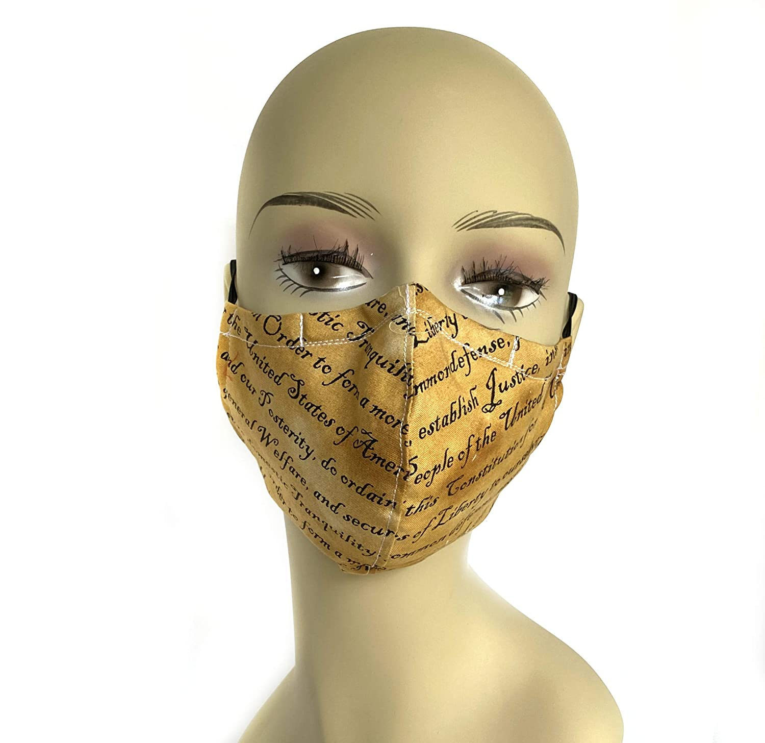 Sale SALE% OFF National uniform free shipping Constitution double layer contoured cloth face mask an washable
