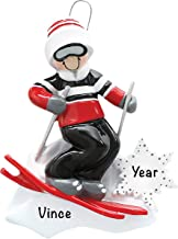Personalized Christmas Ornaments Guy Skiing Decor – Charming 2020 Ornament Holiday Decorations Customized Gifts for Sports...