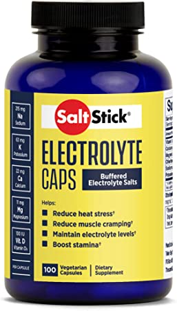 SaltStick Caps, Bottle of 100 Electrolyte Replacement Capsules for Rehydration, Exercise Recovery, Youth & Adult Athletes, Hiking, Camping, Hangovers, & Sports Recovery, Gluten Free, Non-GMO