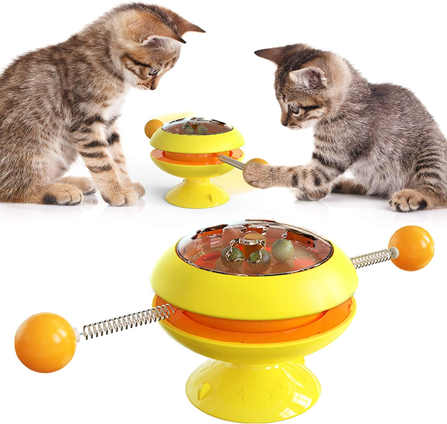 TLUUBONY Spasm price Cat Toy Max 86% OFF Balls Interactive S Strong with Catnip