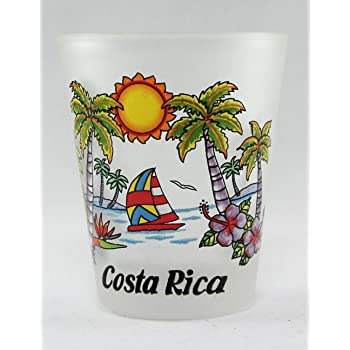 Costa Rica Map Shot Glass World By Shotglass costaricamap