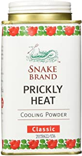 TWO PACKS of Snake Brand Prickly Heat Original Cooling Powder Classic 140g