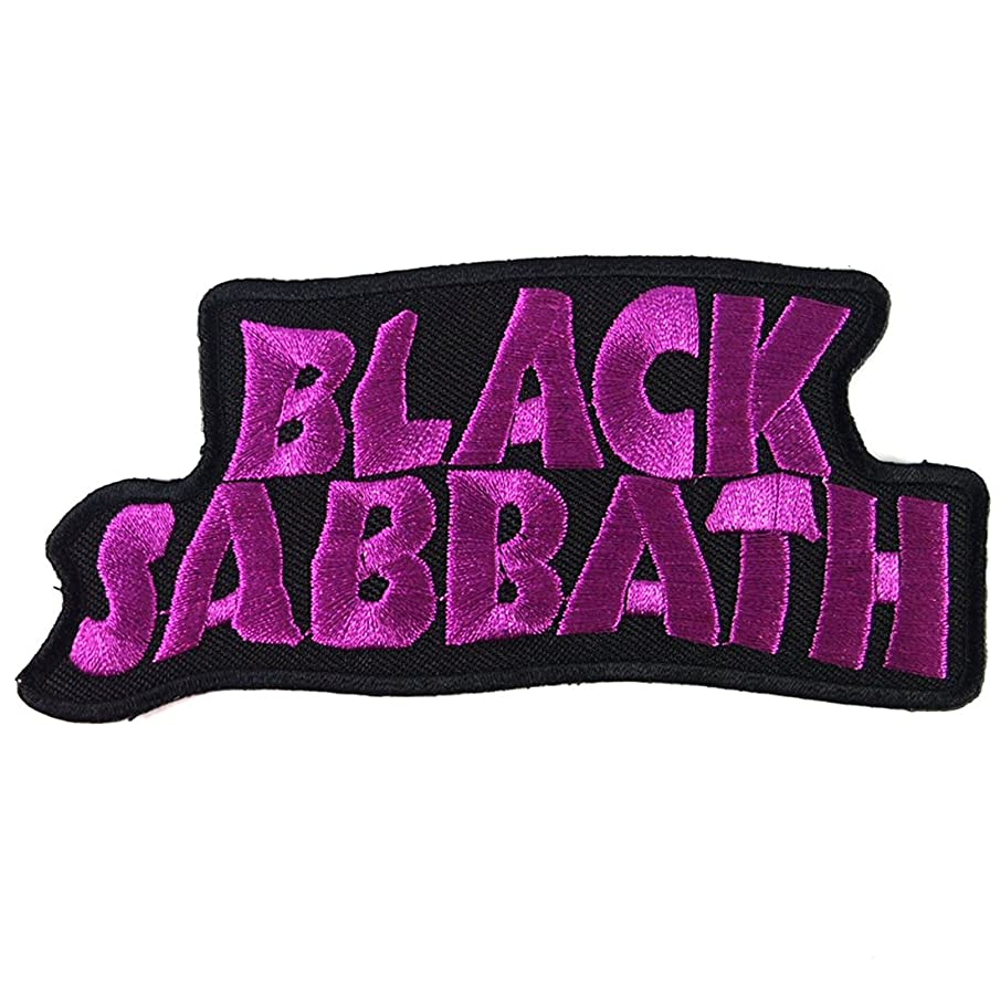 Patch Cube Black Sabbath Heavy Metal Punk Rock Band Iron on Patches, 2 by 4.5-Inches