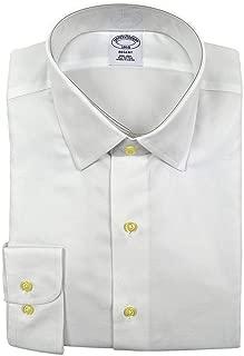 Brooks Brothers Men's Textured Regent Fit Non Iron Dress Shirt White