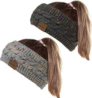 Loritta 2 Pack Womens Ear Warmers Headbands Winter Warm Fuzzy Cable Knit Head Wrap Gifts